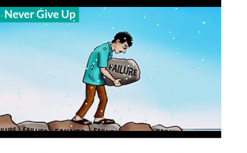 Never Give up Animation Motivational Status